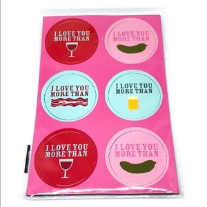 NWT I love you more than Magnets set of 6